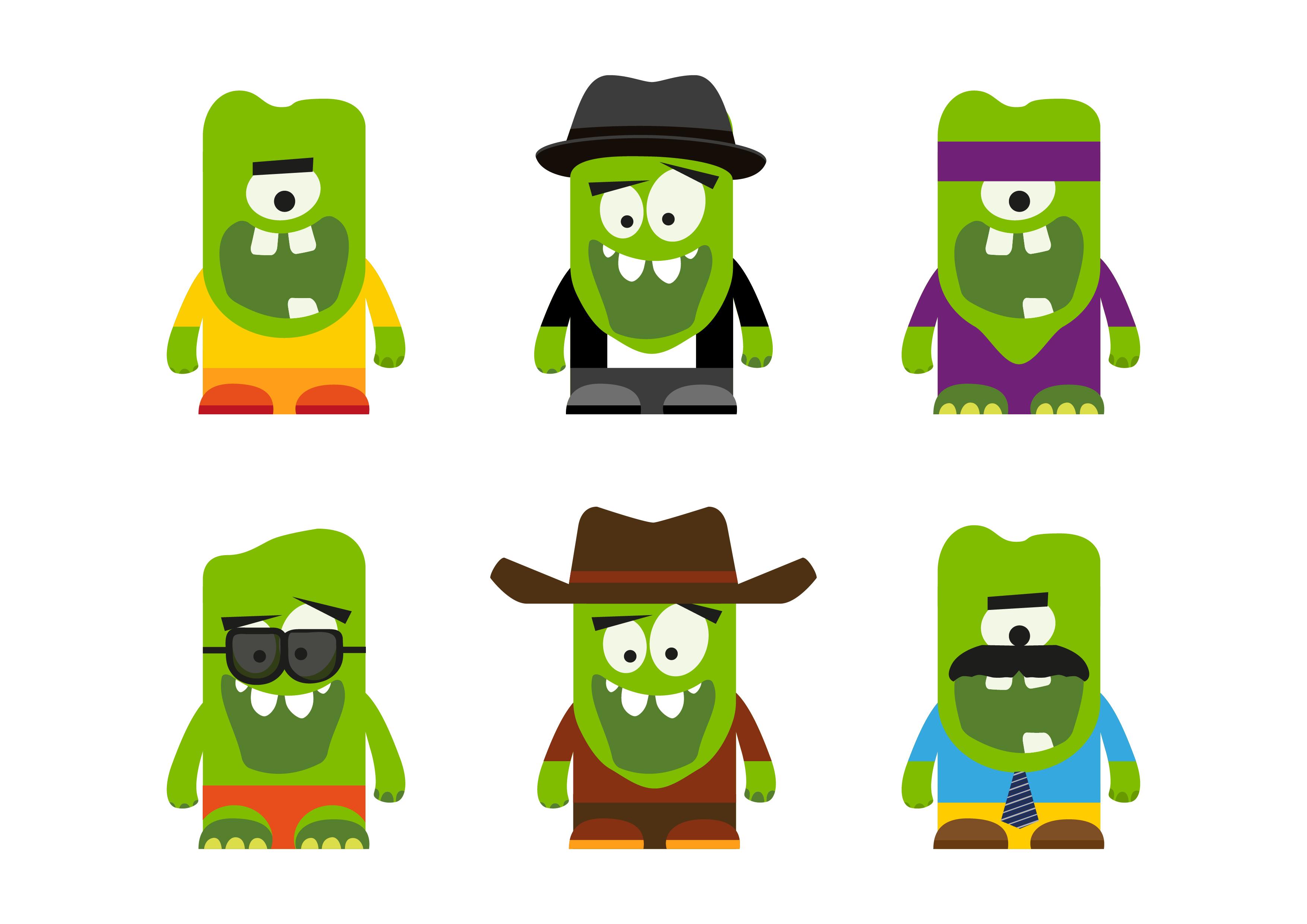 dos autocolantes Monstros Milaneza Kids